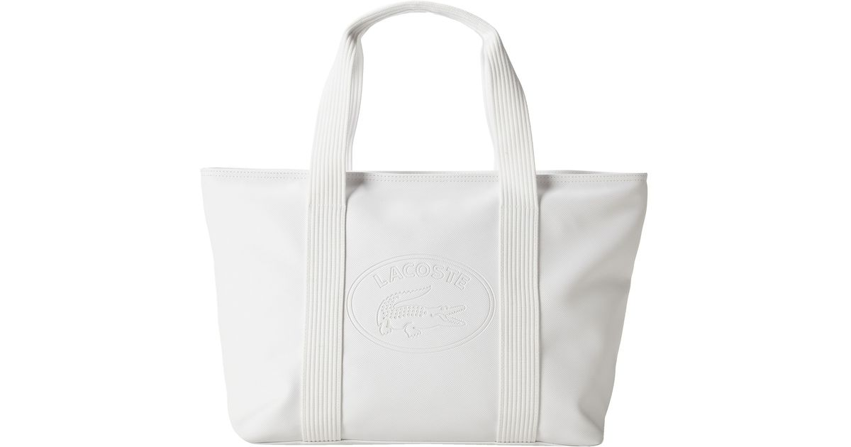 1c70388b2623 Lyst - Lacoste New Classic Large Shopping Bag in White