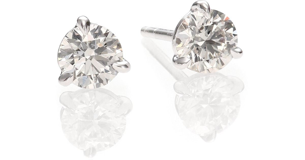 product french in brilliant platinum earrings round stud diamonds cut home modern sapphire