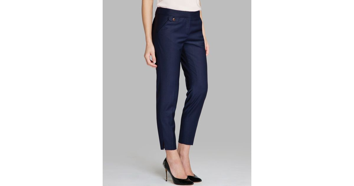 20be94ddcc38 Ted Baker Pants Ziviat Tapered Ankle Cropped in Blue - Lyst