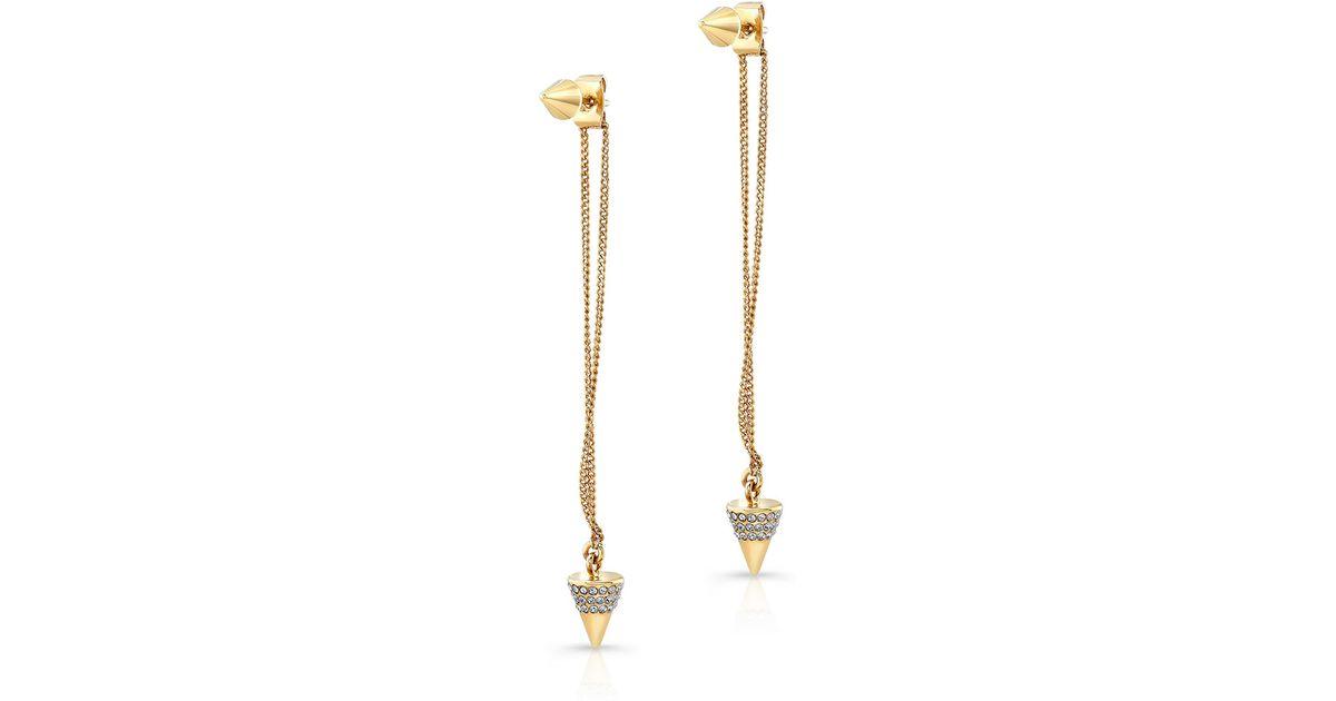 7a2e6bd0df304d Lyst - Vita Fede Titan Double-spike Drop Earrings in Metallic