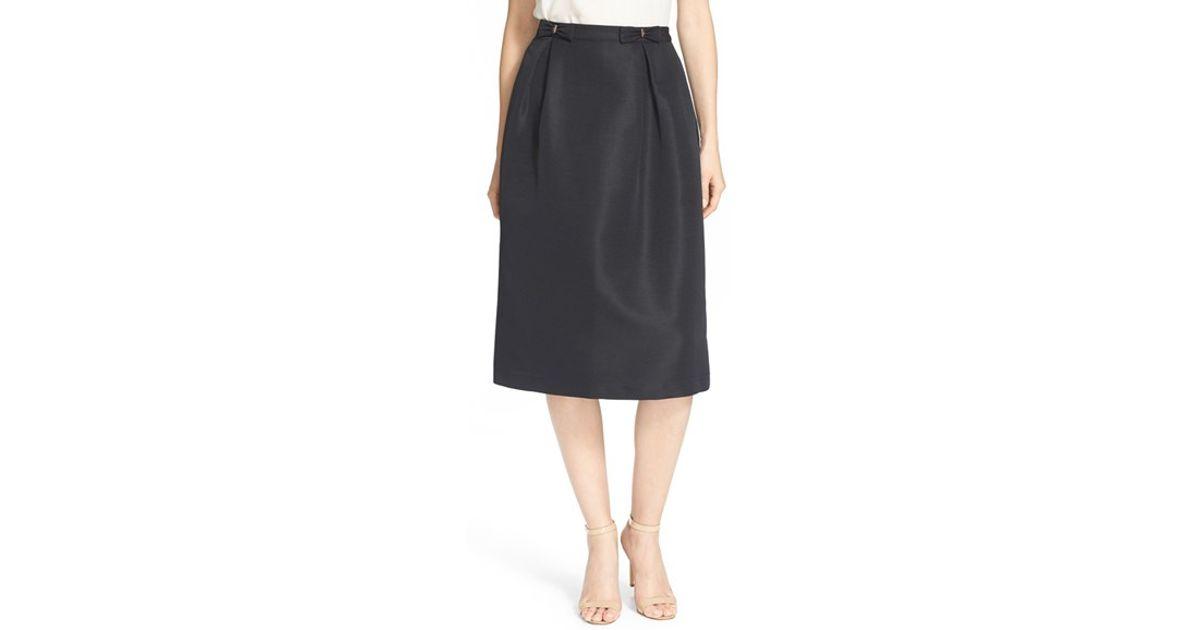 ted baker bow midi skirt in black lyst