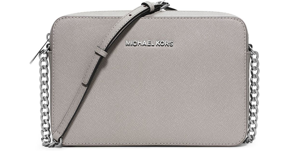 1b6a2d52f055 Lyst - MICHAEL Michael Kors Jet Set Travel Large Crossbody Bag in Gray