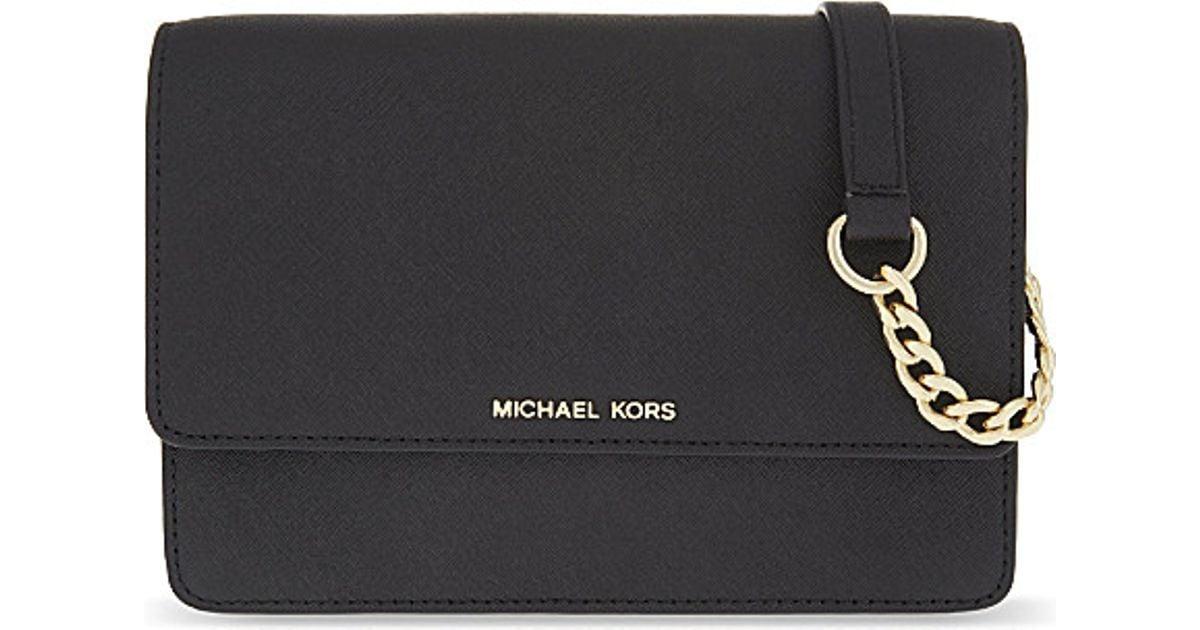 21a6f030f54b30 MICHAEL Michael Kors Daniela Small Leather Cross-body Bag in Black - Lyst
