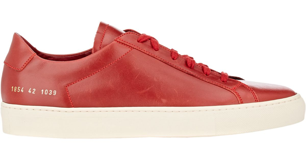 143721d1fc48 Lyst - Common Projects Men s Achilles Vintage Low-top Sneakers in Red for  Men