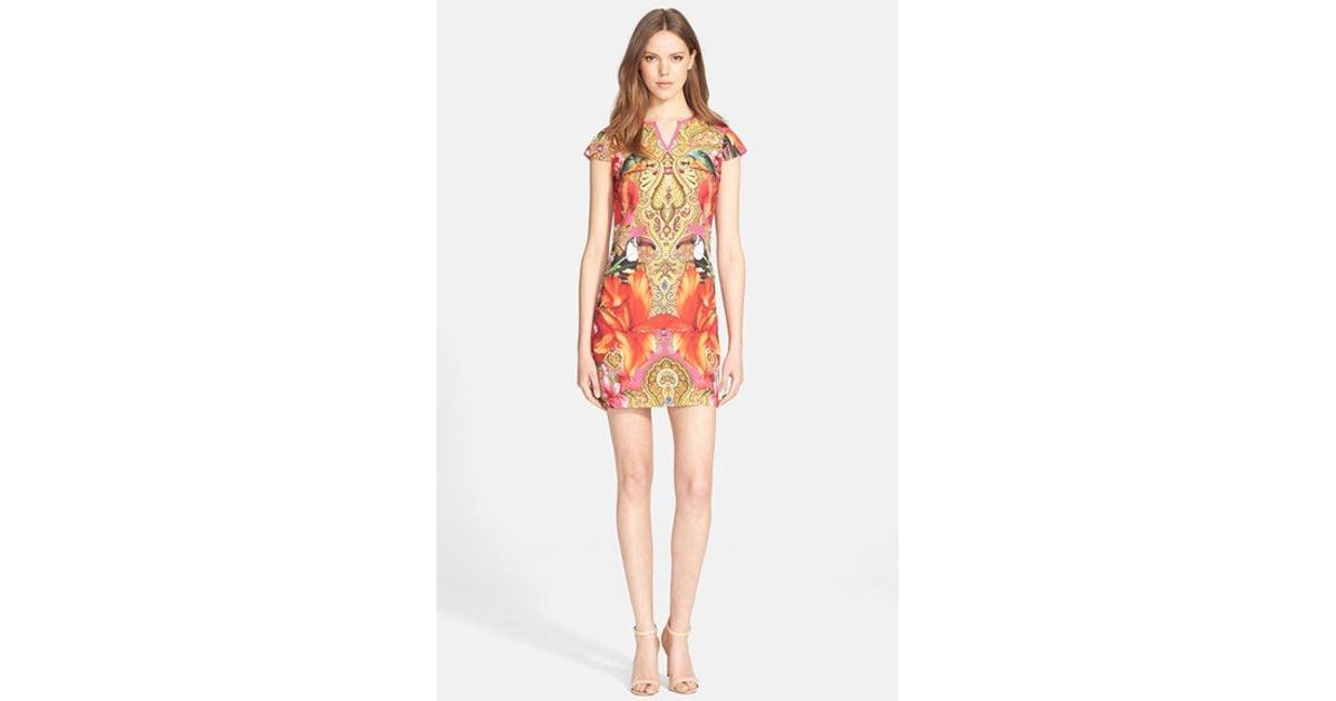 6b3e708b594678 Lyst - Ted Baker  aalia Toucan  Print Tunic Dress