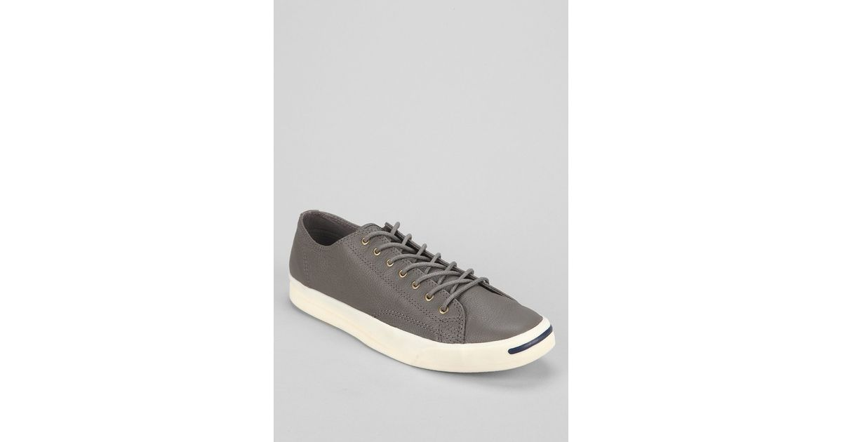 3bd70f3e033bb5 Lyst - Converse Jack Purcell Jeff Leather Sneaker in Gray for Men