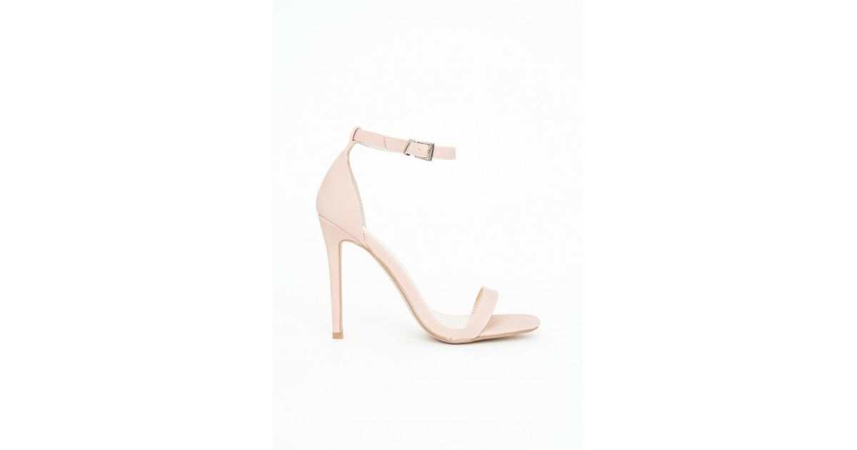 82af3140786c Lyst - Missguided Clara Nubuck Strappy Heeled Sandals Pink in Pink