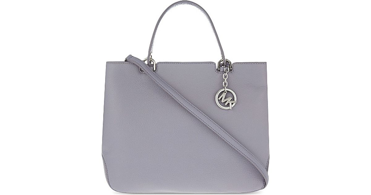 9d1d02434e8fe MICHAEL Michael Kors Anabelle Large Leather Tote in Purple - Lyst