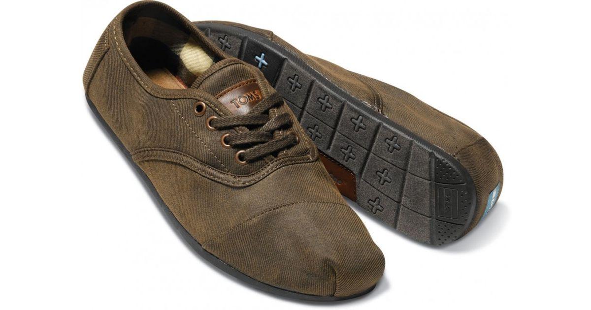 9e70b37c532 Lyst - TOMS Black Twill Men S Cordones in Brown for Men