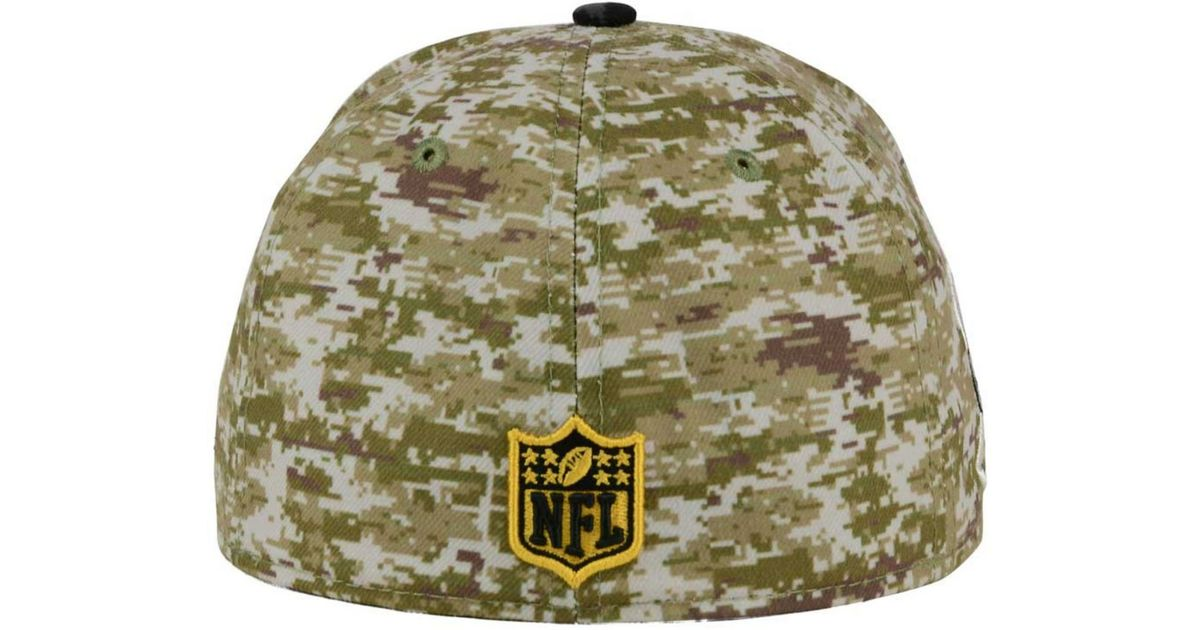 ... inexpensive lyst ktz pittsburgh steelers salute to service 59fifty cap  in green for men c43b3 4f469 2a1330d4c