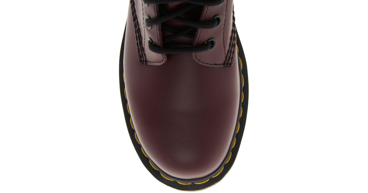 073f6b34a18 Lyst - Dr. Martens Modern Classics Cherry Red Smooth 1460 8-eye Boots in Red