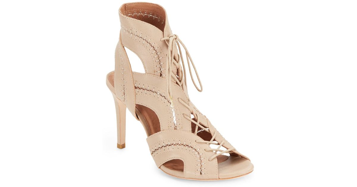 40e083695c44 Lyst - Joie Remy Leather Lace-Up Sandals in Pink