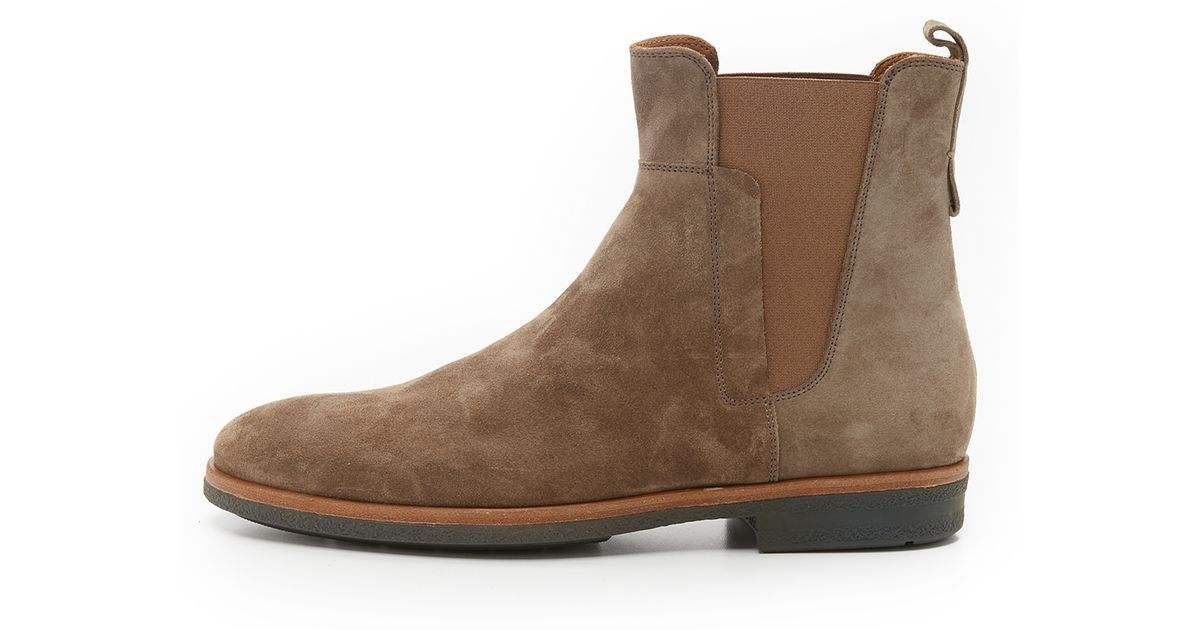 Vince Harvey Suede Chelsea Boots In Brown For Men Lyst