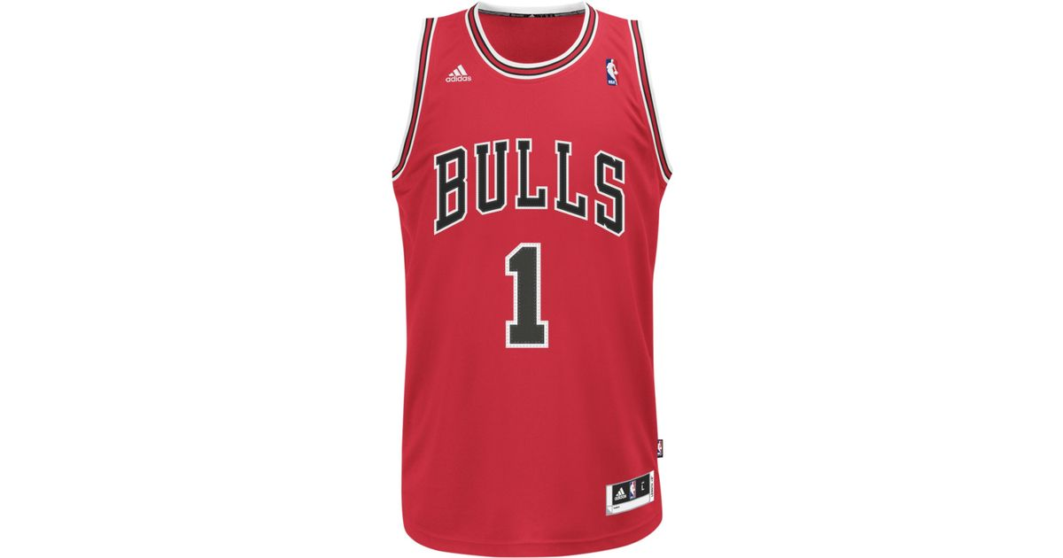 new product 6646e 1b992 Adidas - Red Chicago Bulls Derrick Rose Revolution 30 Swingman Jersey for  Men - Lyst