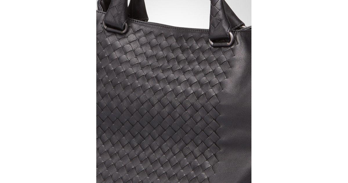 5af2df75b581c Bottega Veneta Nero Intrecciato Washed Nappa Tote Bag in Black for Men -  Lyst