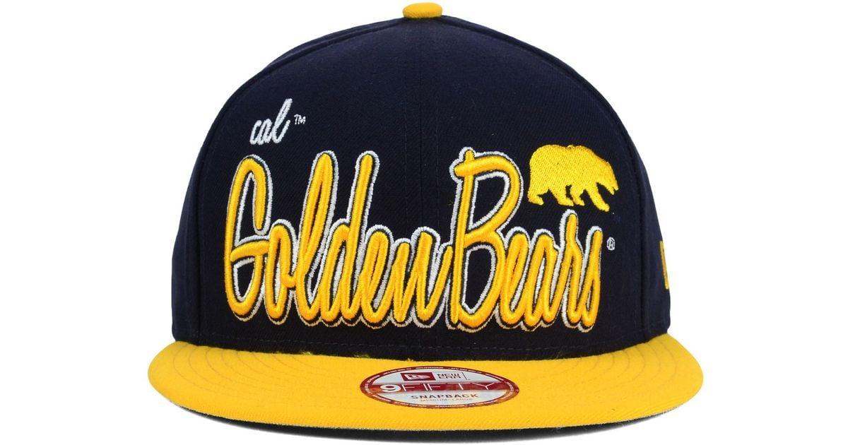 sports shoes e63be d2da1 Lyst - KTZ California Golden Bears Team Script 9fifty Snapback Cap in Blue  for Men