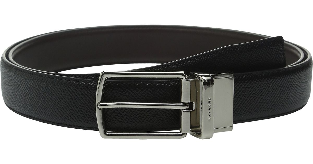 cb082900cf45 Lyst - COACH Modern Harness Cut To Size Reversible Leather Belt in Black  for Men