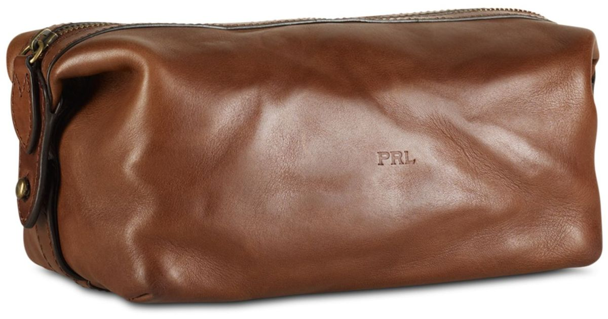 Lyst - Ralph Lauren Dopp Leather Shaving Kit in Brown for Men 0c74ee96473cd
