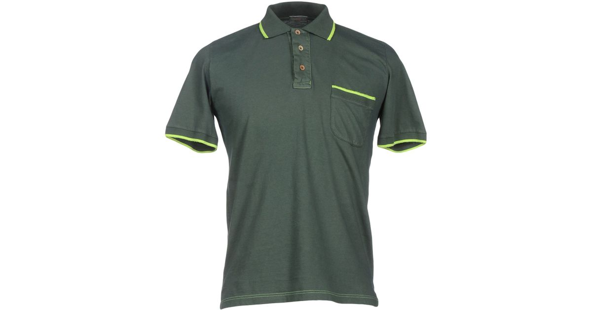 Altea polo shirt in green for men emerald green save Emerald green mens dress shirt
