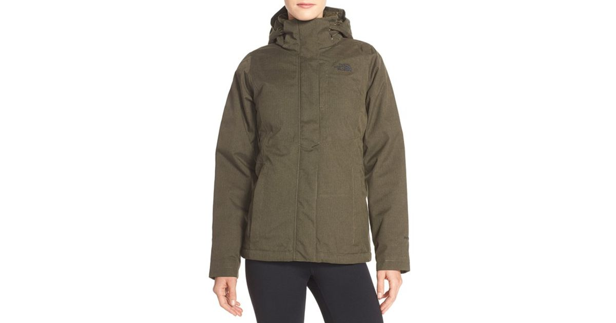 d341205ee474 Lyst - The North Face  inlux  Hooded Insulated Jacket in Green