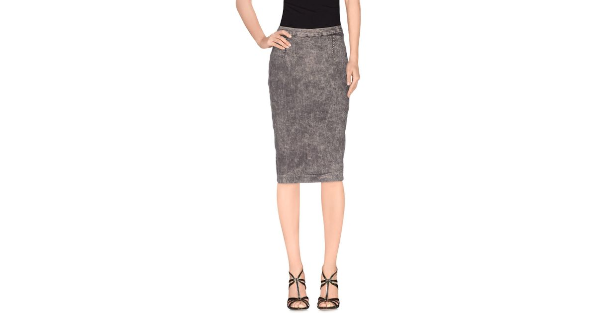 cheap monday denim skirt in gray lyst