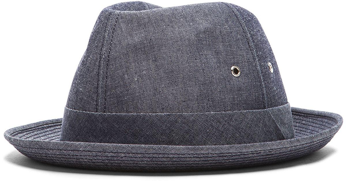 5217ffd72a265 Comme des Garçons Men s Dungaree Hat in Blue - Lyst
