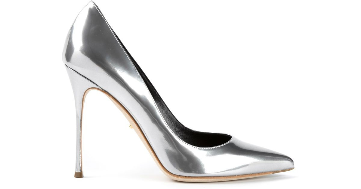 Sergio Rossi chunky heel metallic pumps sale deals sale eastbay comfortable online UHqG4tyC6