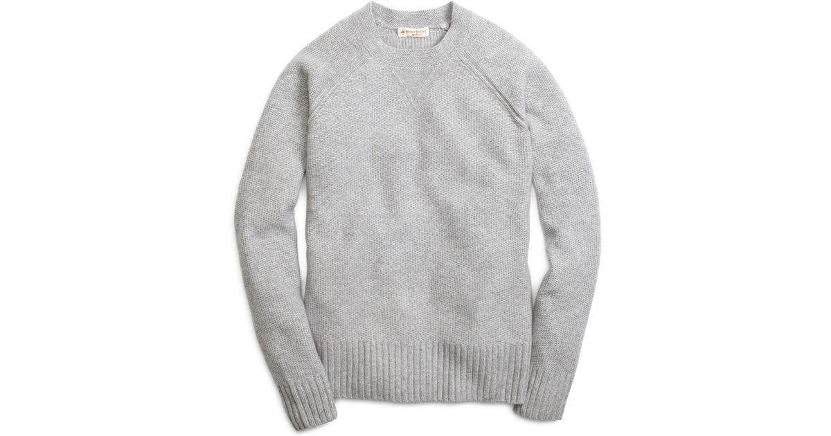 Brooks brothers Cashmere Sweater in Gray for Men | Lyst