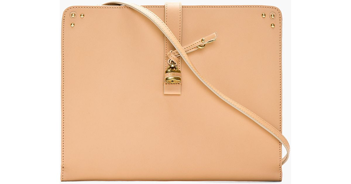 Chlo¨¦ Taupe Leather Aurore Tablet Case in Beige (taupe) | Lyst
