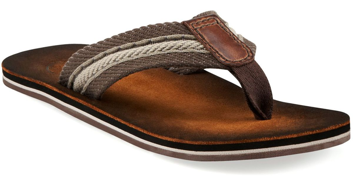 Lyst - Clarks Cory Thong Sandals in Brown for Men
