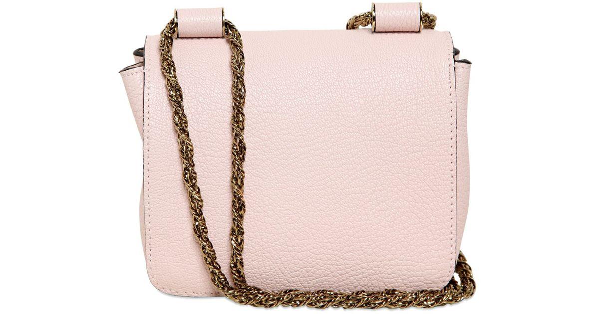 ba29fe9d0e Chloé Pink Leather Mini Elsie Bag in Pink - Lyst