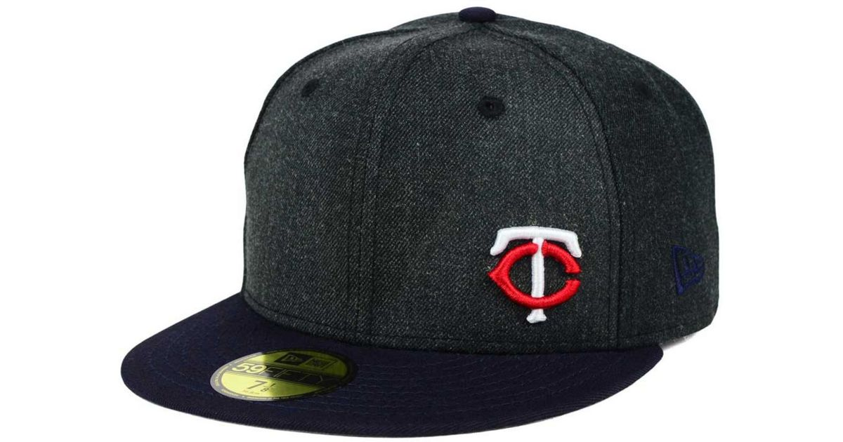 sports shoes a7e91 5a8b8 ... shopping lyst ktz minnesota twins smalls 59fifty cap in blue for men  82ba5 534df