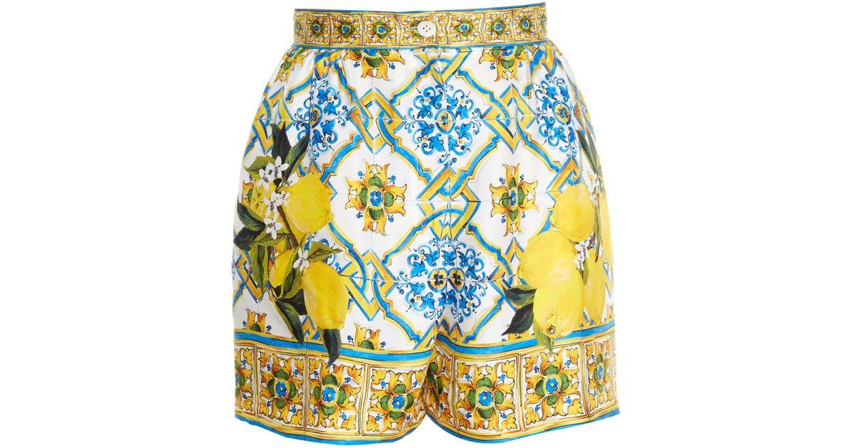 Lyst - Dolce   Gabbana Majolica And Lemon-print Shorts 3d18b1d4dd5e8