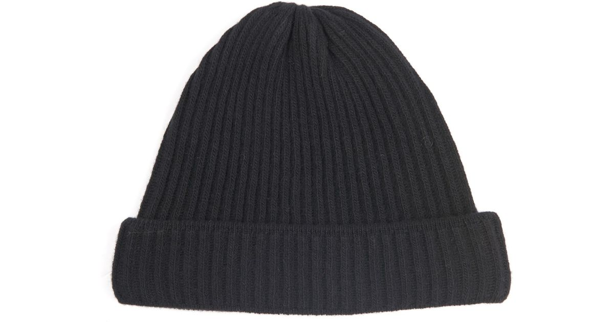 Lyst - Acne Studios Miles Ribbed-Knit Wool Beanie Hat in Black for Men 82143fe26b2
