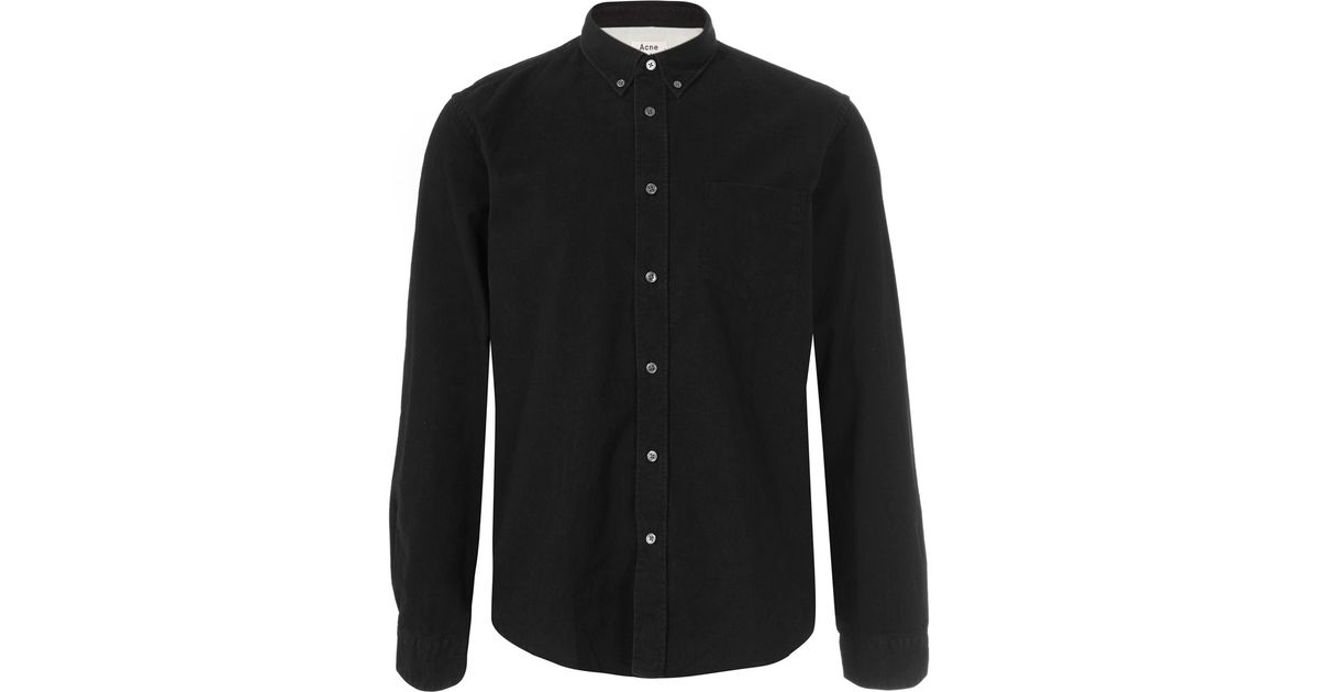 Lyst - Acne Studios Black Button Down Shirt in Black for Men 286533034b9f