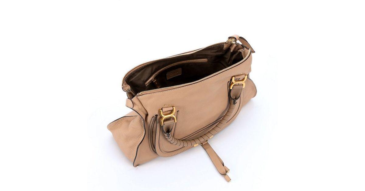 Chlo¨¦ Clay Beige Leather Large \u0026#39;Marcie\u0026#39; Tote Bag in Brown (clay ...