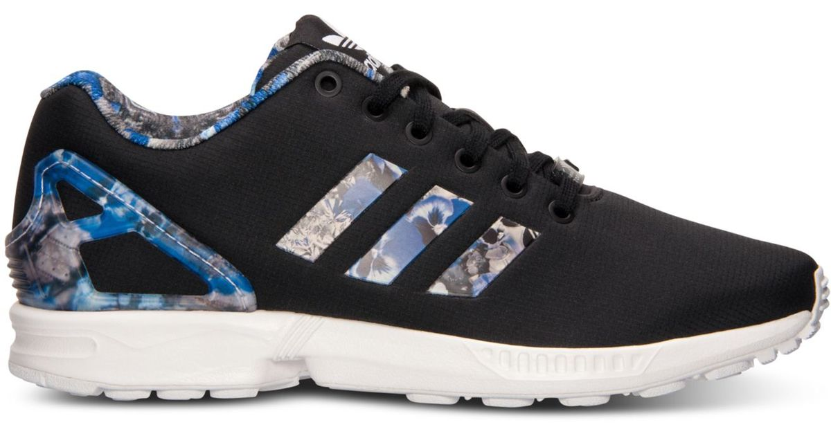 Lyst - adidas Originals Men s Zx Flux Print Running Sneakers From Finish  Line in Black for Men d6ba731ae801