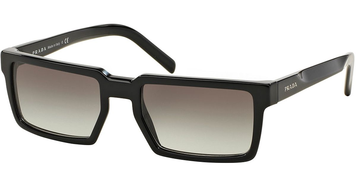 07ce382e43 ... sale lyst prada thick rim rectangular sunglasses in black for men 7768e  0ae4e ...