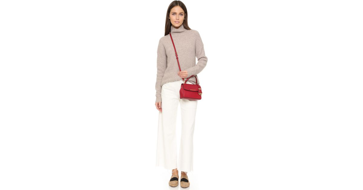 641117def091 ... Cherry Gold eBay Michael michael kors Ava Extra Small Cross Body Bag -  Ballet in Red Lyst ...