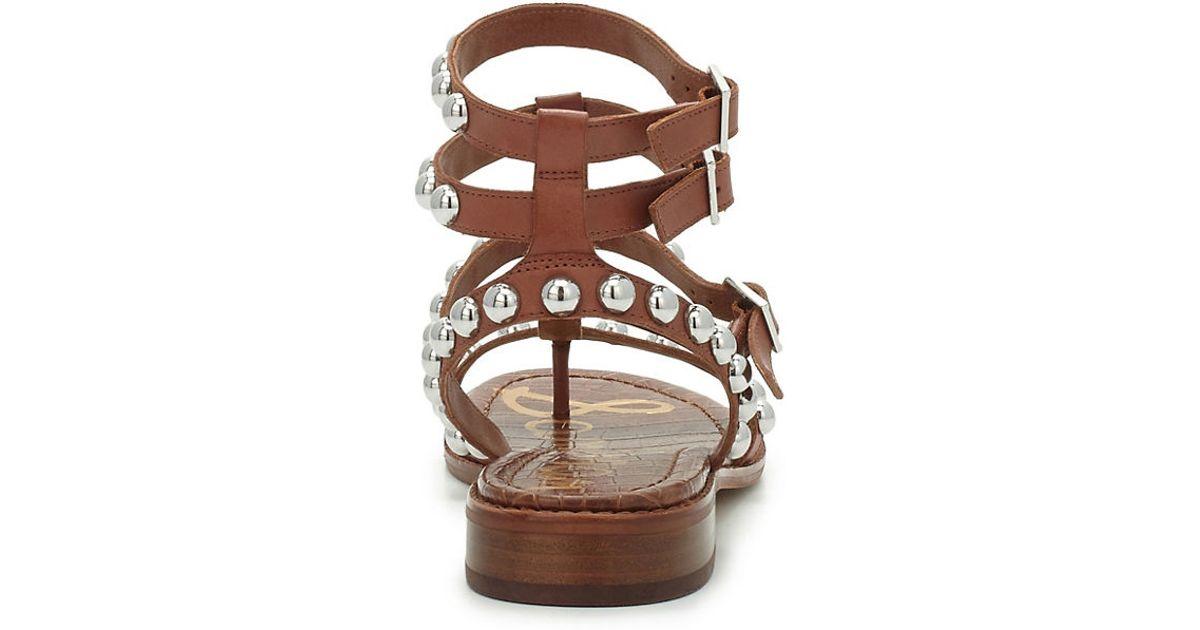 10901473dac Sam Edelman Eavan Studded Gladiator Sandals in Purple - Lyst