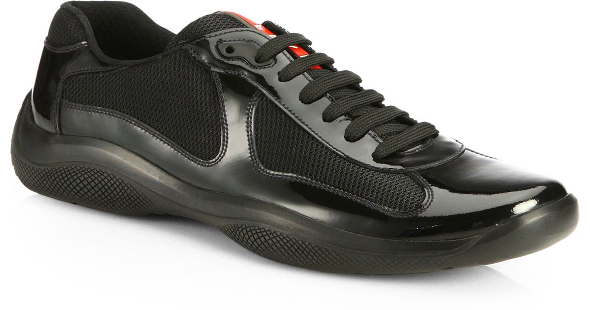 Black Patent Leather Prada Shoes