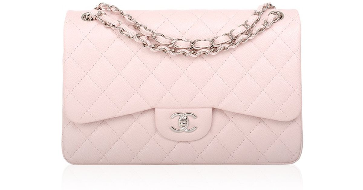 4ab120c07db4 Lyst Madison Avenue Couture Chanel Baby Pink Quilted Caviar Jumbo