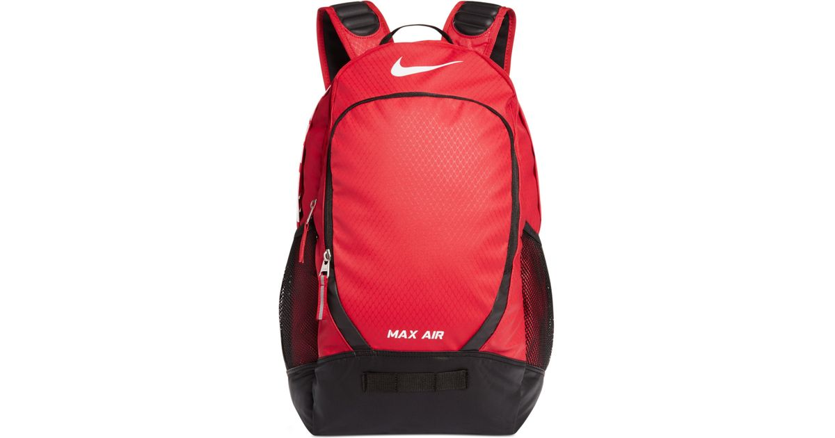 Lyst - Nike Max Air Team Training Large Backpack in Red for Men 0140351f5c