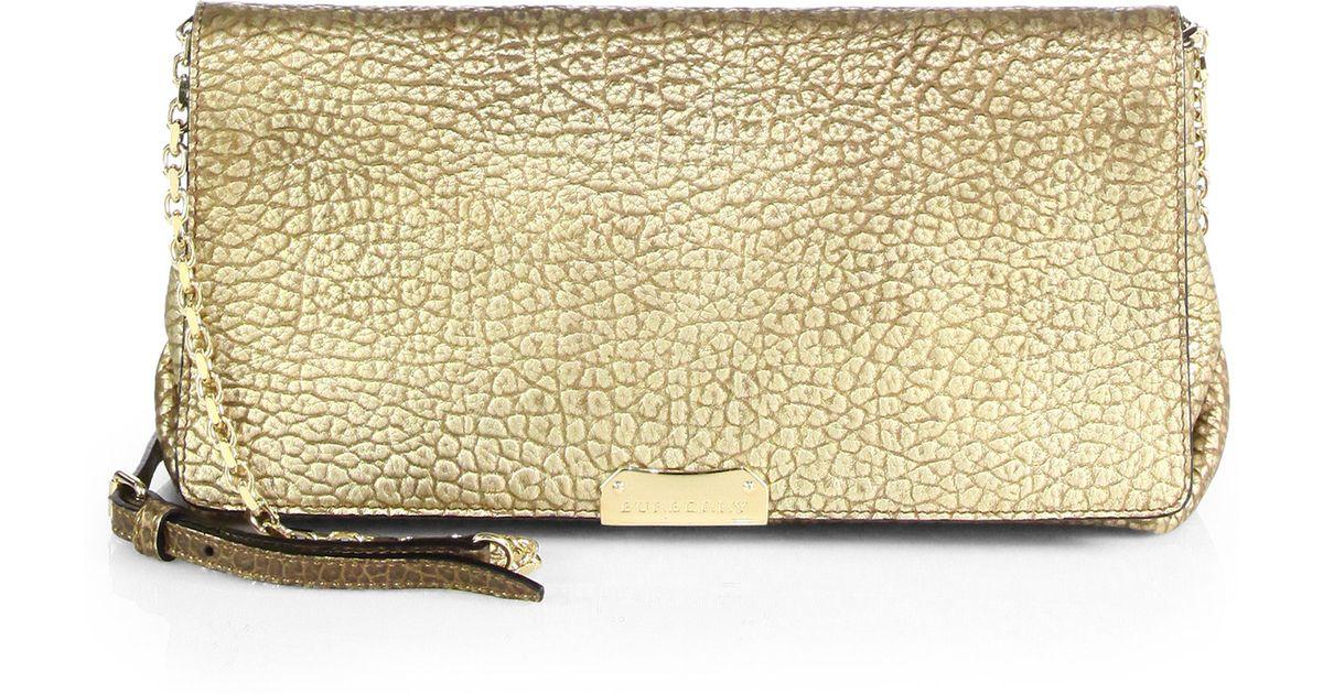 cf8f66d05e3b Lyst - Burberry Medium Mildenhall Metallic Shoulder Bag in Metallic