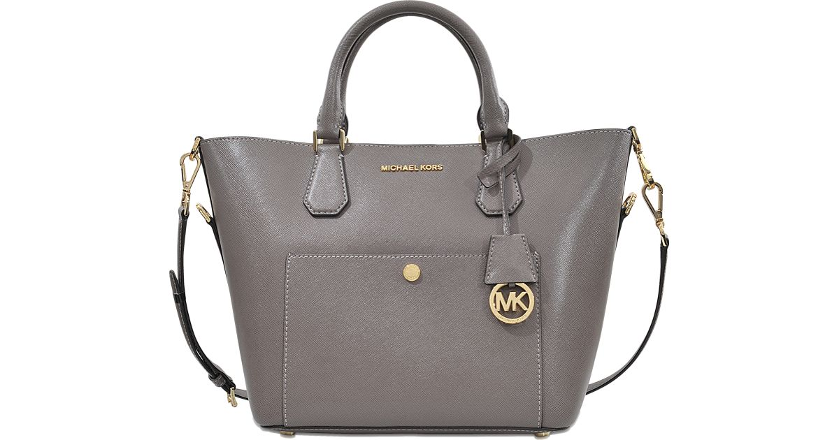 Lyst - Michael Kors Greenwich Lg Grab Bag in Gray 022dfe56b6f07