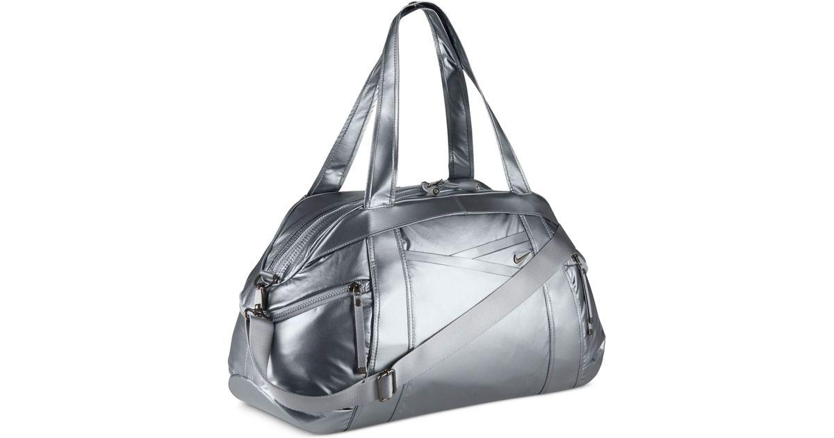 3ef9817356 Lyst - Nike Victory Gym Club Metallic Duffel Bag in Gray