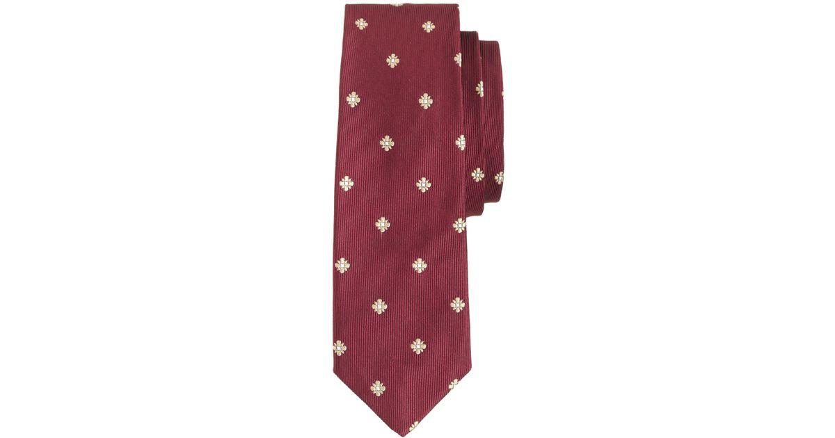 52b333688fa9 J.Crew Italian Silk Tie in Burgundy Foulard in Red for Men - Lyst