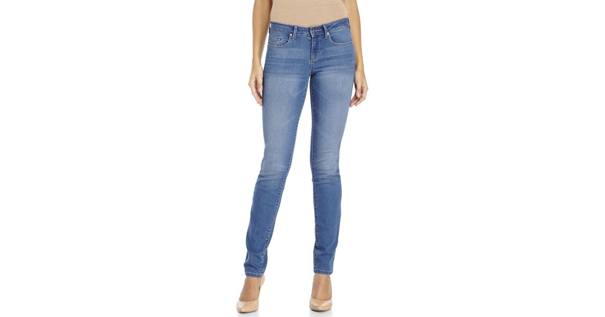 786605f40e14e Lyst - Jessica Simpson Cherish Skinny Soft Sculpt Jeans in Blue