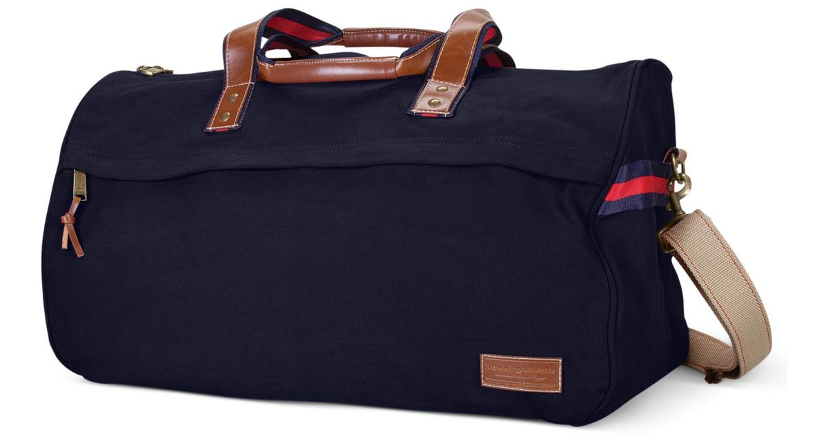 Tommy Hilfiger - Blue Canvas Duffel Bag for Men - Lyst e7d6f825365
