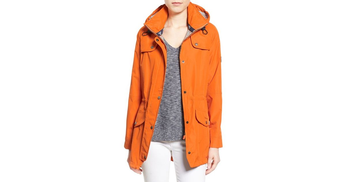 614ce3bfc Barbour Trevose Waterproof Hooded Jacket in Orange - Lyst